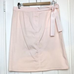 VALENTINO pink cotton midi skirt sz 44 (10)