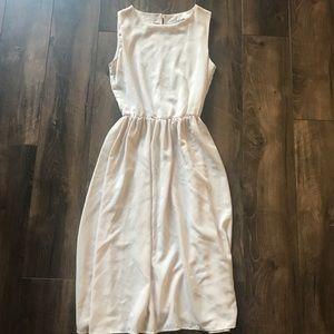 Cream asos midi dress