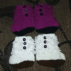 Other - Stylish Crotcheted baby boots NEW