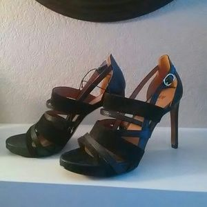 NEW- Black H&M Heels with ankle strap!