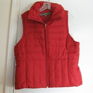 Kenneth Cole Reaction Red Down Vest - XL
