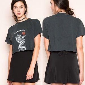 Brandy Melville silk Genevieve wrap skirt