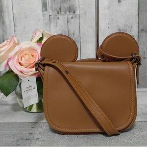 Coach x Disney Mickey Mouse Saddle Crossbody