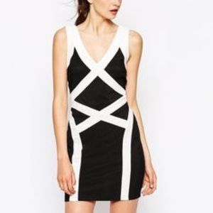 ASOS daisy co.uk bandage bodycon dress