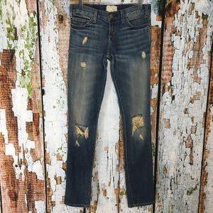 Current Elliott Washboard Destroyed Skinny Jeans
