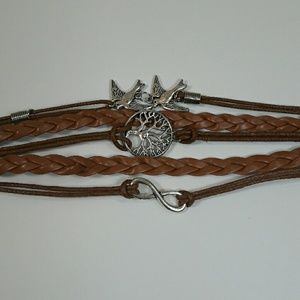 Jewelry - Brown Charm Layered Bracelet