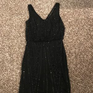 Adrianna Papell Black beaded Cocktail Dress
