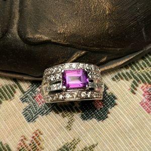 Jewelry - Sterling Silver Diamond Gemstone Ring