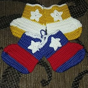 Other - New crocheted baby booties
