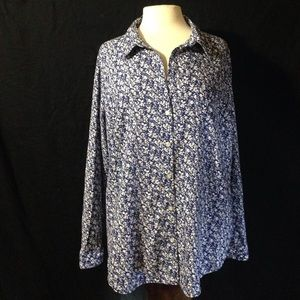 Old Navy Ladies Floral Casual Button Down Top