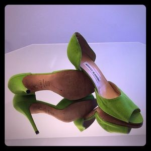 Apple Green/Chartreuse Manolo Blahnik Pumps