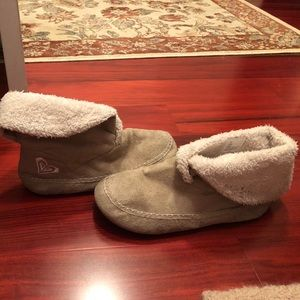 Roxy faux fur ankle boots booties size 9