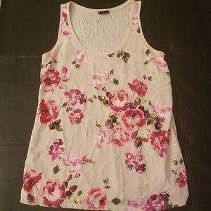 NWOT Express Floral Sequins Beaded Tank Top