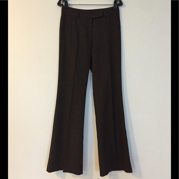 Habana Pants - Habana Brown Pinstripe Trousers