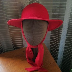BETMAR RED WOOL HAT OSFM