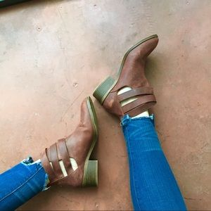 Leather Seychelles Booties