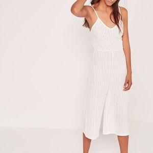 Ribbed Strappy Culotte Jumpsuit