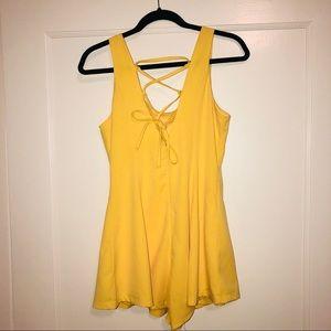 🍋 LuLu's Yellow Romper - M/L Fit (Worn Once!)