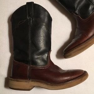 Laredo Black Brown Ropers Boots sz 8-1/2