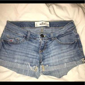 Hollister medium wash denim shorts