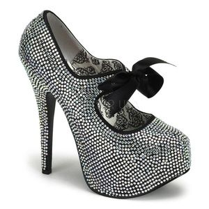 Platform Stiletto High Heel Bow Shoes Rhinestone