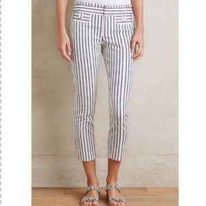 NWOT Cartonnier Striped Crop Charlie Trousers