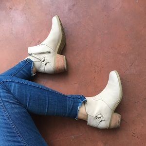 Cream Teva Booties