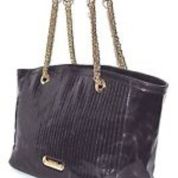 Versace Collection Patent Leather Tote – EGGPLANT.  M 5a1d365856b2d6bef3105437 9f2856282e5bd