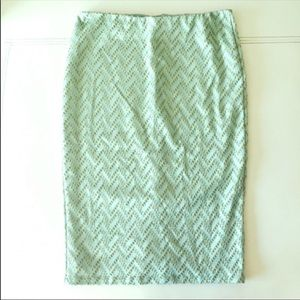 ✨BNWT✨H&M light green & Gold Skirt