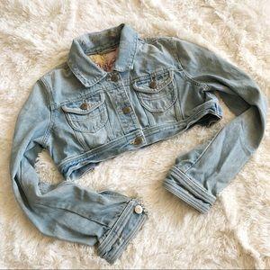 BB Dakota Vintage Inspired Cropped Denim Jacket