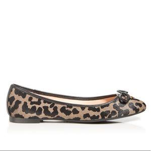 Kate Spade Willa Leopard Calf Hair Ballet Flats, 9