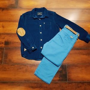 Other - NWOT Boys Navy blue Button down, size 5-6