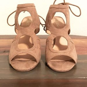 Tan Suade Heels