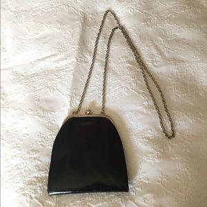 Black Italian leather vintage bag