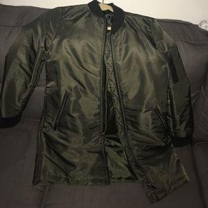 Brand new bomber long jacket