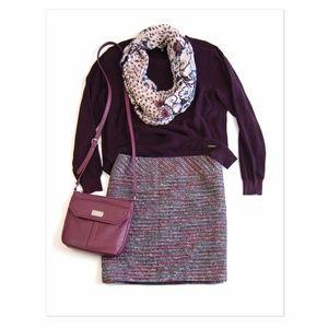LOFT Outlet Tweed Mini Skirt 14