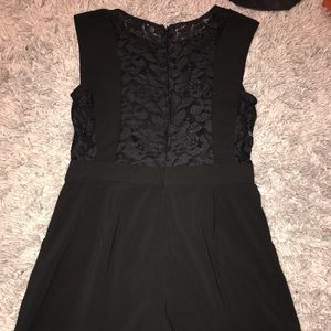 Forever 21 black lace romper with pockets