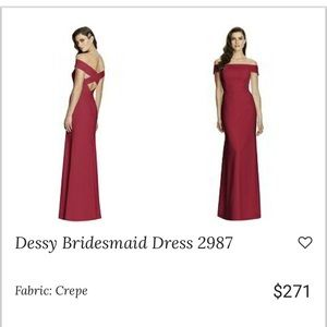 Worn Once Dessy Gown