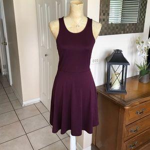 Burgundy color sassy and comfortable dress