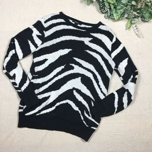 Forever 21 Zebra Crew neck Sweater