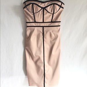 Sexy Cocktail Dress Pink/Blk Size 4, Gently Worn