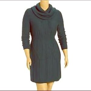 New Green cable knit sweater dress- plus size 2X