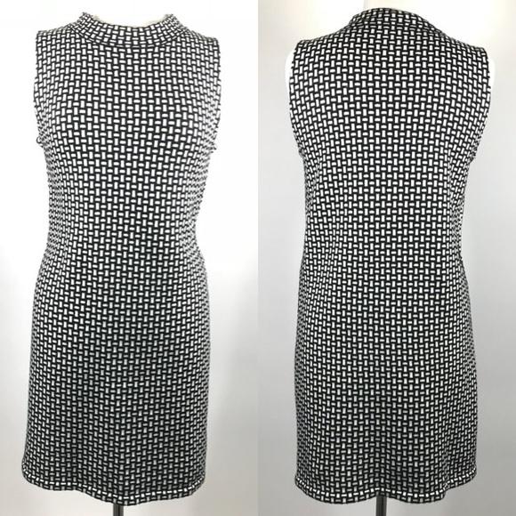 e17e9159 ZARA Knit 60's Style Shift Dress Mock Neck. M_59e94e0f7f0a054a090051be