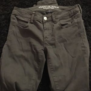 American Eagle army green skinny jean/jegging, s 6
