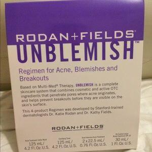 Rodan + Fields Unblemish (4 piece acne treatment)