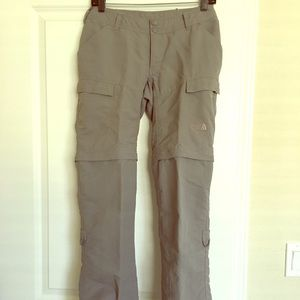 The north face size 4 paramount convertible pants