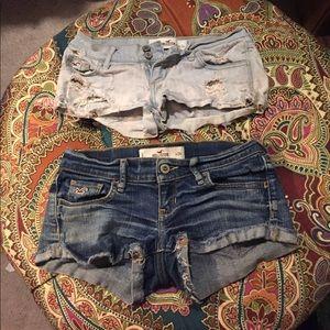 2 Jean shorts hollister