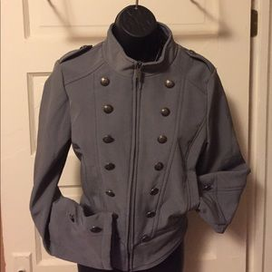Women's size L jacket gray military doll house sex