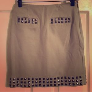 INC gray skirt with silver detail