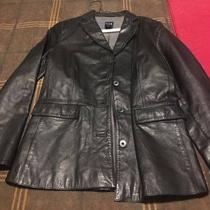 Gap size small leather jacket